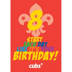 Cub 8th Birthday Card