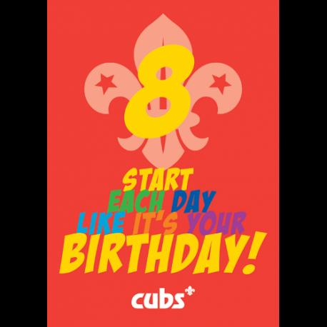 Cub 8th Birthday Card