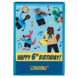 Beaver 6th Music Band Birthday Badge