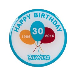 Beaver 30th Birthday Pin Badge (2cm)