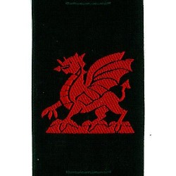 Welsh Dragon Ribbon Badge