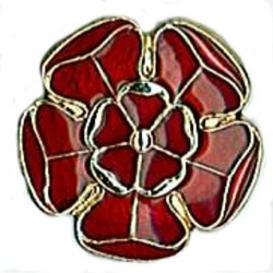 Lancashire Rose Badge Metal