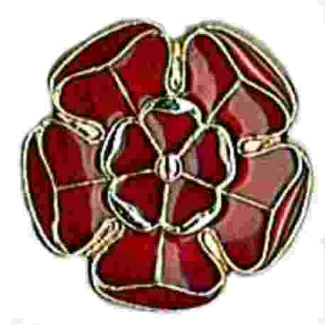 Lancashire Rose Badge Metal
