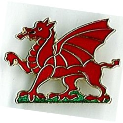 Welsh Dragon Badge Metal