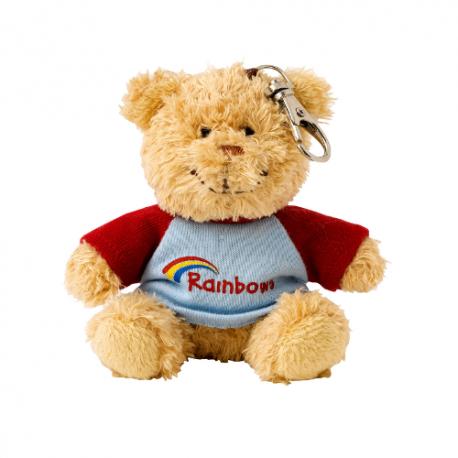 Rainbow Teddy Clip