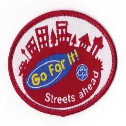 Guide Go For It!<br/>Streets Ahead Woven Badge