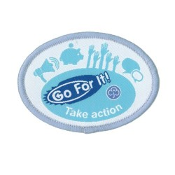 Guide Go For It!<br/> Take Action Woven Badge