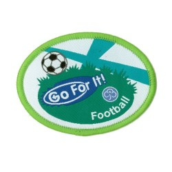 Guide Go For It!<br/> Football Woven Badge