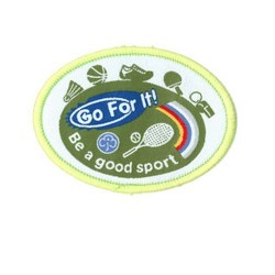 Guide Go For It!<br/> Be A Good Sport Woven Badge