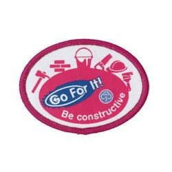 Guide Go For It!<br/> Be Constructive Woven Badge