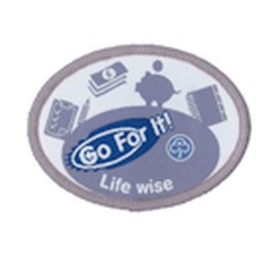 Guide Go For It!<br/> Life-Wise Woven Badge