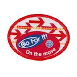 Guide Go For It!<br/> On The Move Woven Badge