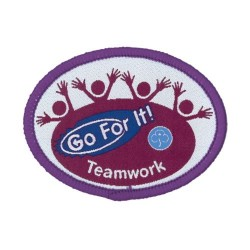 Guide Go For It!<br/> Teamwork Woven Badge