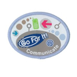 Guide Go For It!<br/> Communicate Woven Badge