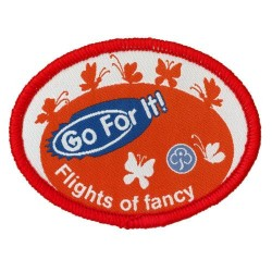 Guide Go For It!<br/> Flights of Fancy Woven Badge