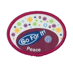 Guide Go For It!<br/> Peace Woven Badge