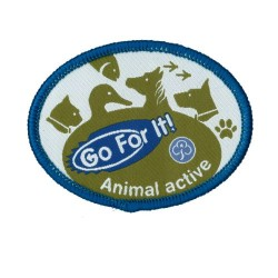 Guide Go For It!<br/> Animal Activity Woven Badge