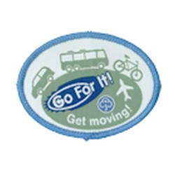 Guide Go For It!<br/> Get Moving Woven Badge