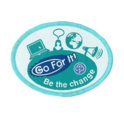 Guide Go For It!<br/>Be the Change Woven Badge