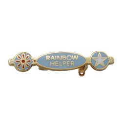Rainbow Helper Pin Badge