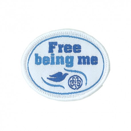 Free Being Me Woven Badge