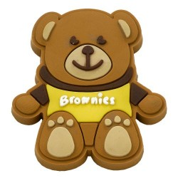 Brownie Rubber Pin Badge - T-Shirt