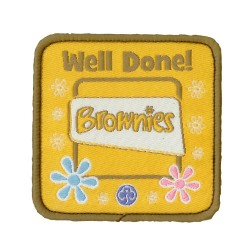 Brownies Well Done Woven Badge