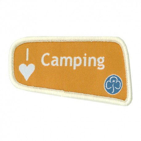 I Love Camping Badge