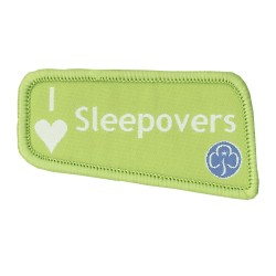 I Love Sleepovers Badge