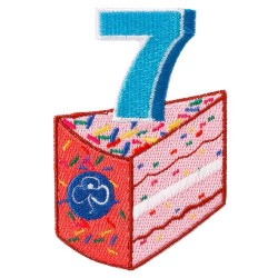 Happy 7th Birthday Badge