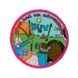 Senior Section I've Had A Camping Adventure Woven Badge