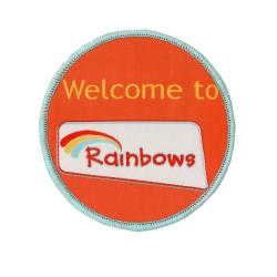 Welcome to Rainbows Woven Badge