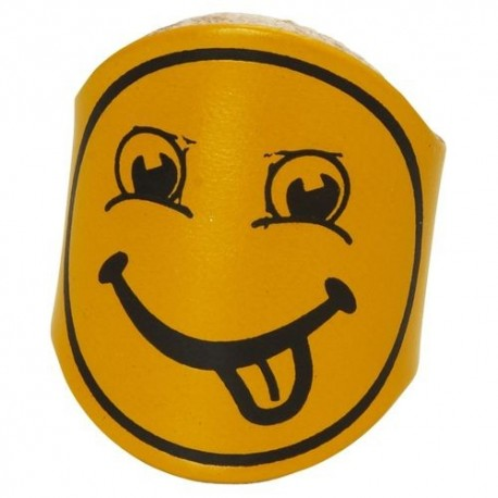 Woggle - Smiley Face Leather