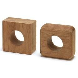 Woggle - Craft Unfinished Mahogany Wood