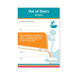 Senior Section Out Of Doors Octant Certificate