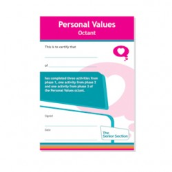 Senior Section Personal Values Octant Certificate