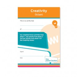 Senior Section Creativity Octant Certificate