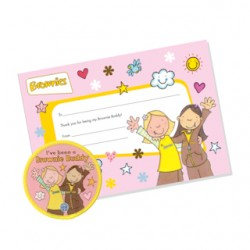 Brownie Buddy Badge and Certificate