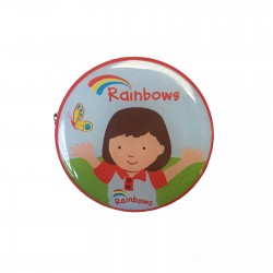 Rainbow Olivia Metal Badge