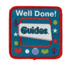 Guide Well Done Woven Badge