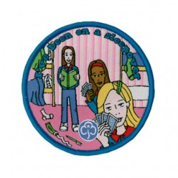 Guides Sleepover Fun Woven Badge
