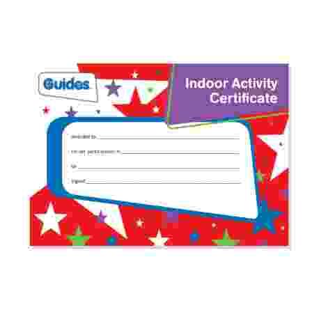 Guide Indoor Activity Certificate