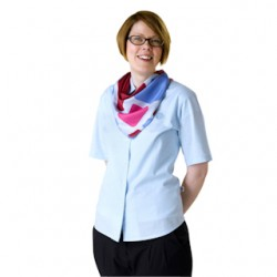 Adult Guide Leader Short-Sleeved Blue Blouse