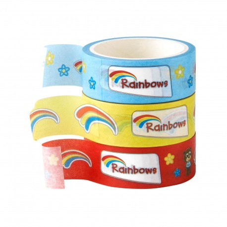 Rainbows washi tape (3pk)