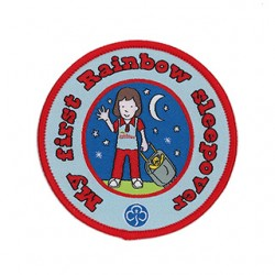 My First Rainbow Sleepover Woven Badge