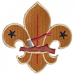 Heritage Log & Axe Fleur de Lis Fun Badge