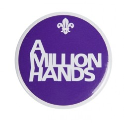 A Million Hands Button Badge