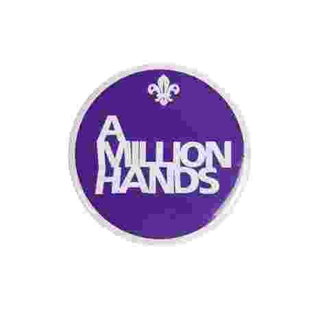 A Million Hands Button Badge