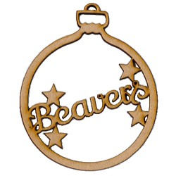 Decorate your own Beavers Christmas Bauble