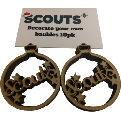 10 pack Decorate your own Scouts Christmas Baubles